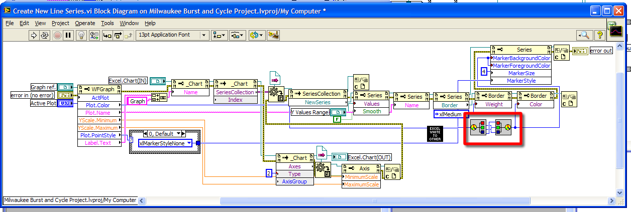 how to change series or line color in excel 2007 using activex rh forums ni com block diagram explanation block diagram example of dishwasher machine