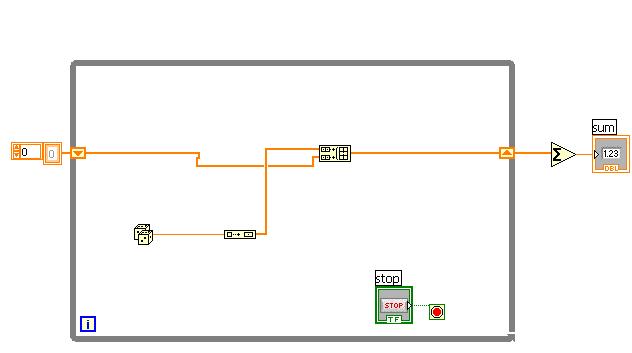 Summation values of a 1d array of dynamic data - NI Community