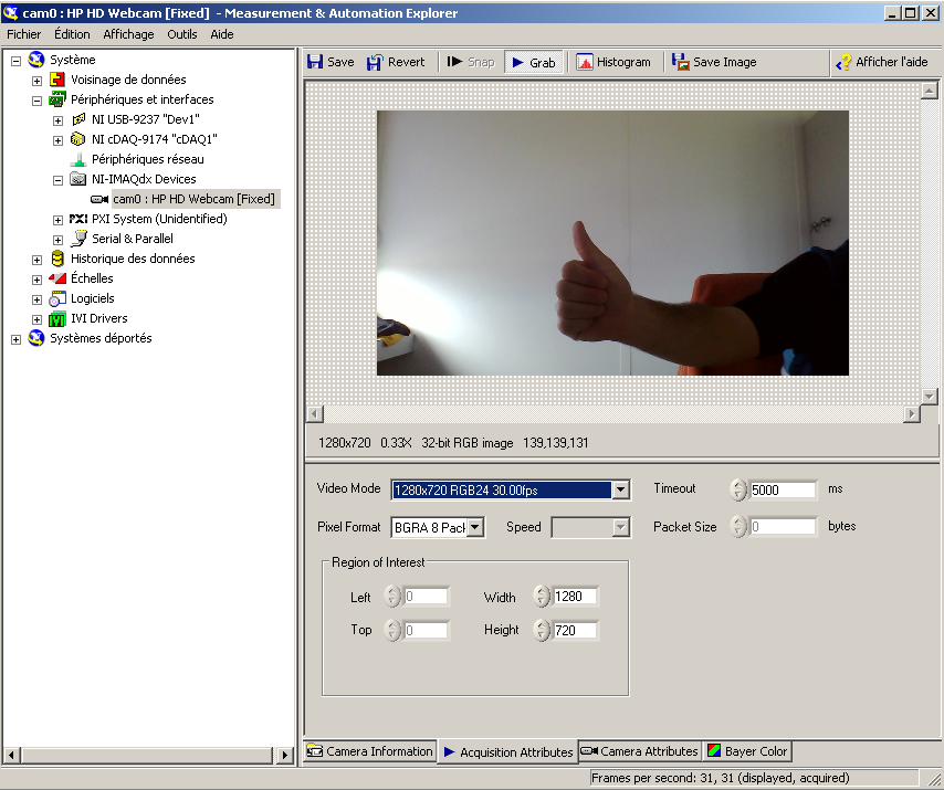 Capturing live image from integrated Webcam using Labview - NI Community - National Instruments