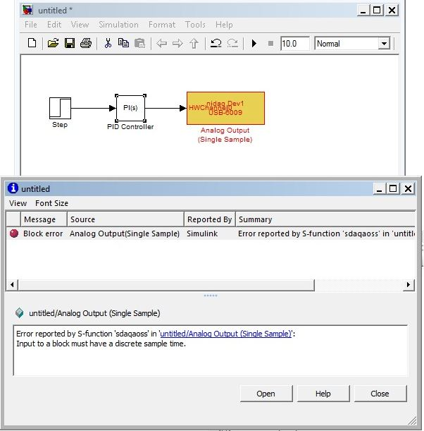 PID in Simulink with USB 6009 NI - NI Community - National